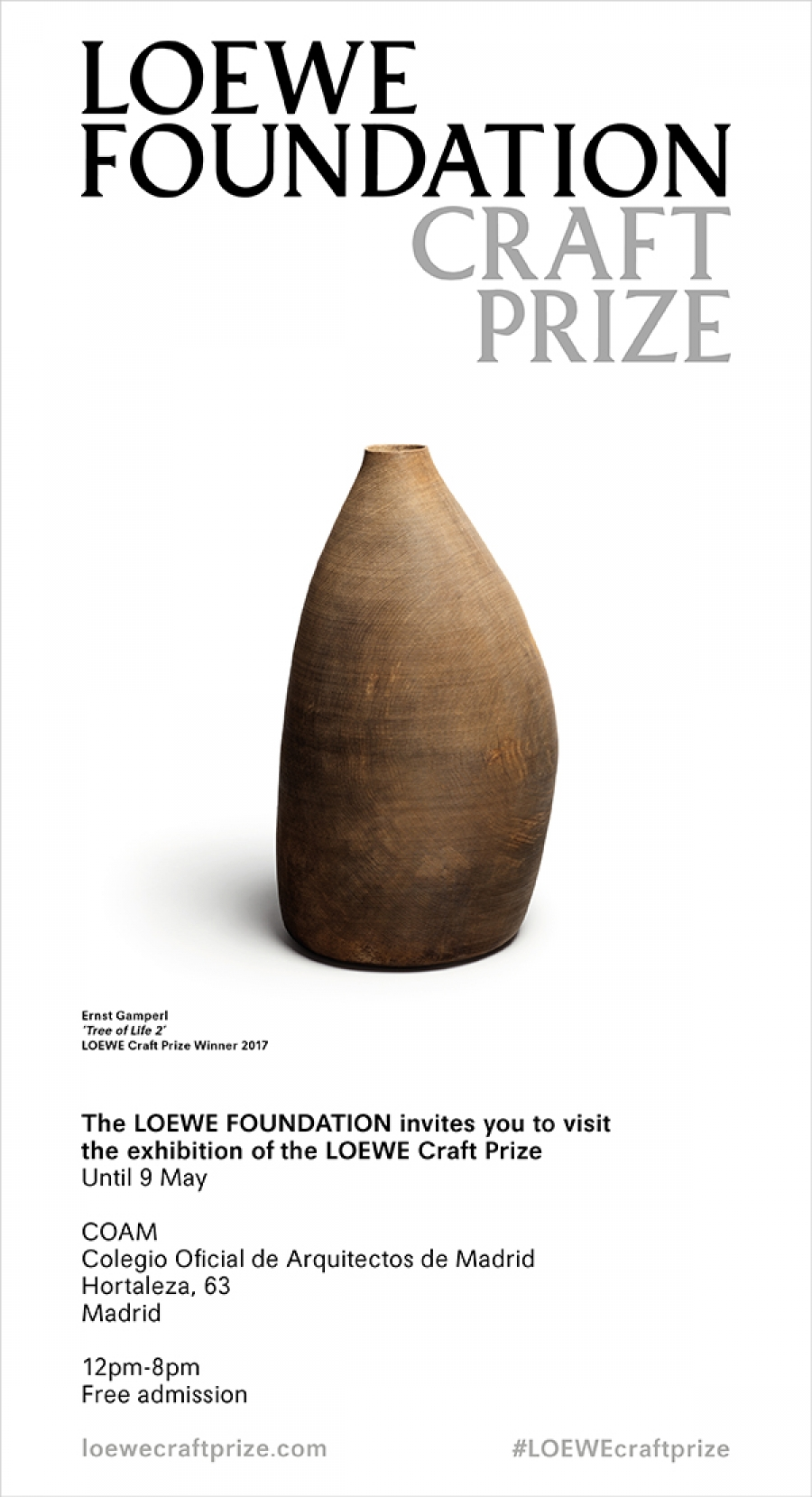 LOEWE Craft Prize - Finalist Exhibition - COAM Madrid